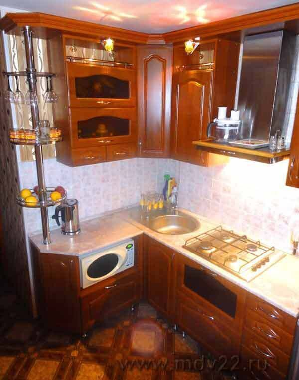 Угловая кухня хрущевка 6 кв дизайн